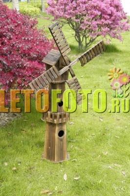 Красивые мельницы для сада фото